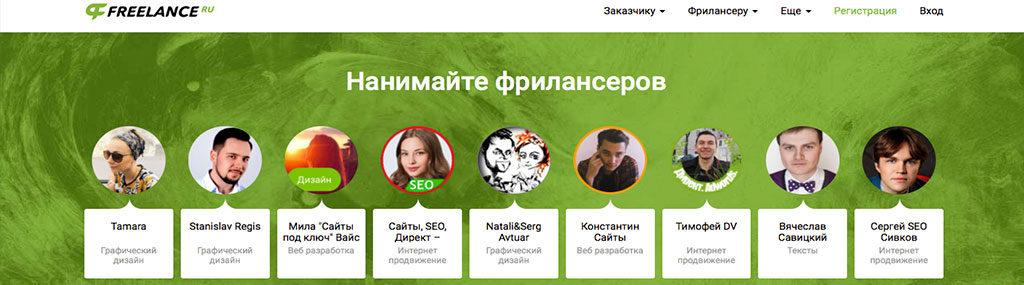freelance.ru фриланс биржа